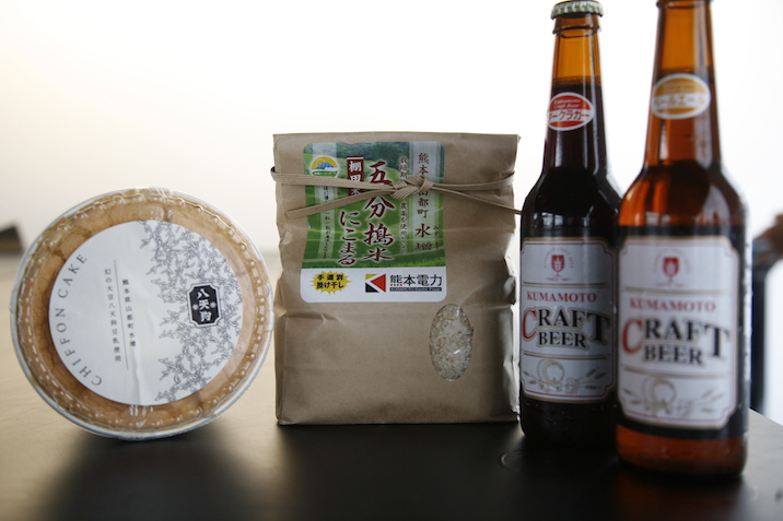 大好評だった熊本クラフトビールと、おみやげの八天狗シフォンケーキ、自然栽培米