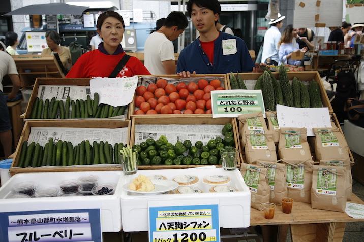 新鮮な有機野菜は完売の大人気!